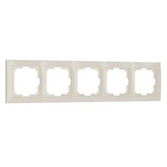 Рамка на 5 постов (слоновая кость, basic) WL03-Frame-05 Werkel