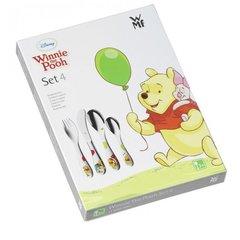 Набор детских столовых приборов (4 предмета / 1 персона) WMF WINNIE POOH 3201002447