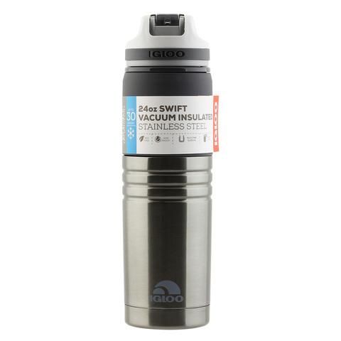Бутылка для воды Igloo Swift 24 (0,7 литра), черная
