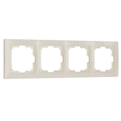 Рамка на 4 поста (слоновая кость, basic) WL03-Frame-04 Werkel