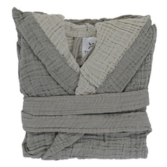 Халат из жатого хлопка серого цвета из коллекции Essential 18-24M Tkano TK20-KIDS-BHR0005