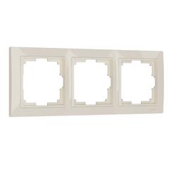 Рамка на 3 поста (слоновая кость, basic) WL03-Frame-03 Werkel