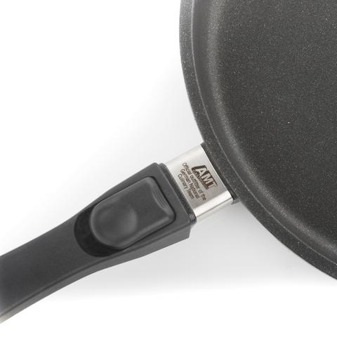 Комплект из 4 сковород AMT Frying Pans (высотой 5см) со съемной ручкой для индукции