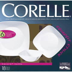 Набор посуды 18 предметов Corelle Pure White 1088641