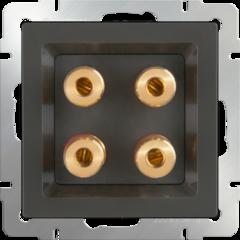 Аккустическая розетка (серо-коричневый) WL07-AUDIOx4 Werkel