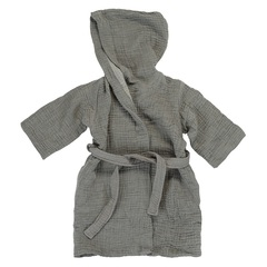 Халат из жатого хлопка серого цвета из коллекции Essential 24-36M Tkano TK20-KIDS-BHR0006