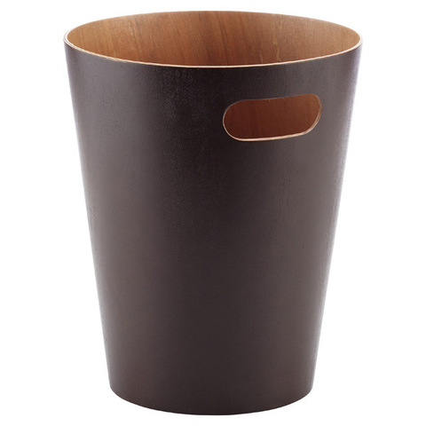 Корзина для мусора  Woodrow эспрессо Umbra 082780-213
