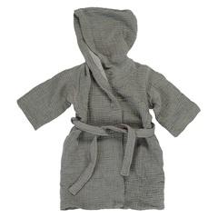 Халат из жатого хлопка серого цвета из коллекции Essential 3-4Y Tkano TK20-KIDS-BHR0007