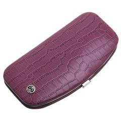Маникюрный набор GD, 5 предметов, цвет розовый, кожаный футляр 1557VCLN