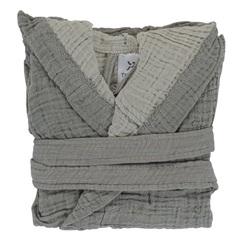 Халат из жатого хлопка серого цвета из коллекции Essential 4-5Y Tkano TK20-KIDS-BHR0008