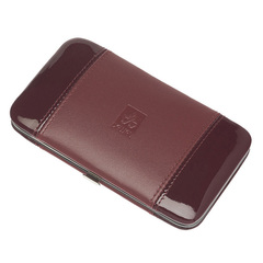 Маникюрный набор Dewal, 5 предметов, цвет красный, кожаный футляр 505DR