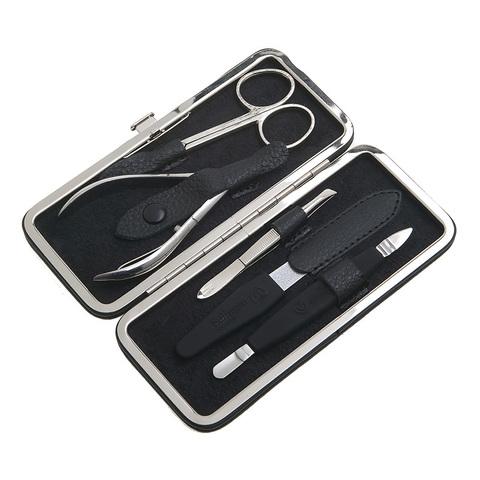 Маникюрный набор GD, 5 предметов, цвет черный, кожаный футляр 1552BkON