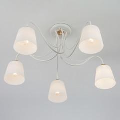 Потолочная люстра со стеклянными плафонами Eurosvet Betty 70062/5 белый