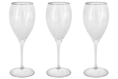 Набор: 6 хрустальных бокалов для вина Пиза серебро 54492