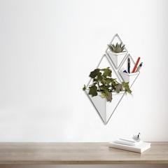 Декор для стен Trigg, малый, белый/никель Umbra 470753-670