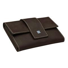 Маникюрный набор Erbe, 7 предметов, цвет коричневый, кожаный футляр 9722ER