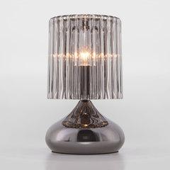 Настольная лампа со стеклянным абажуром Eurosvet Bulbo 01068/1 черный жемчуг