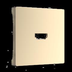 Накладка для розетки HDMI (шампань) WL11-HDMI-CP Werkel