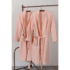 Халат из умягченного льна розово-пудрового цвета из коллекции Essential, размер M Tkano TK19-BR0002