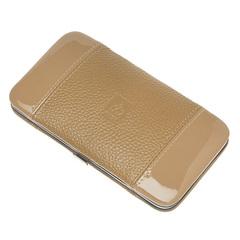 Маникюрный набор Dewal, 5 предметов, цвет бежевый, кожаный футляр 505EB