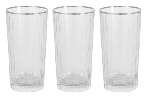 6 стаканов для воды Пиза серебро 22013