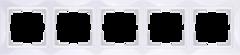 Рамка на 5 постов (белый, basic) WL03-Frame-05 Werkel