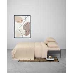 Комплект постельного белья двуспальный бежевого цвета из органического стираного хлопка из коллекции Essential Tkano TK20-BLI0006