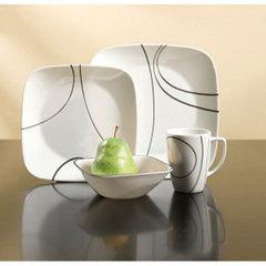 Набор посуды 30 предметов Corelle Simple Lines 1088667