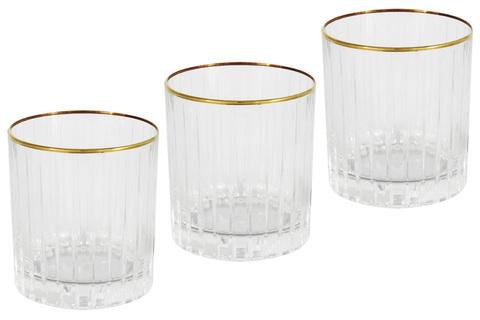 6 стаканов для виски Пиза золото 22014