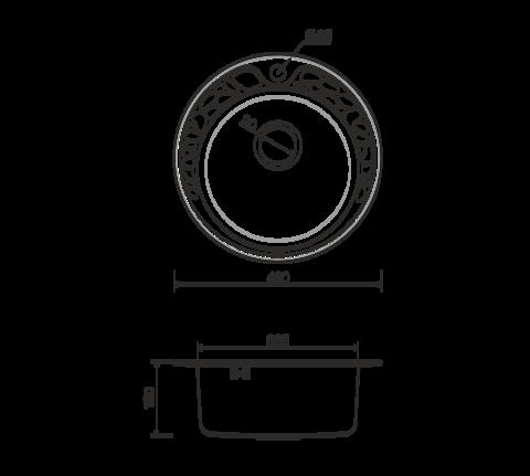 Кухонная мойка из нержавеющей стали OMOIKIRI Tovada 49-1-IN (4993006)