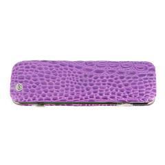 Маникюрный набор GD, 6 предметов, цвет фиолетовый, кожаный футляр 1556VCLN