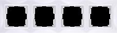 Рамка на 4 поста (белый, basic) WL03-Frame-04 Werkel