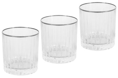6 бокалов для виски Пиза серебро 22015