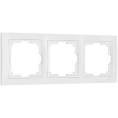 Рамка на 3 поста (белый, basic) WL03-Frame-03 Werkel
