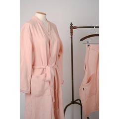 Халат из умягченного льна розово-пудрового цвета из коллекции Essential, размер S Tkano TK19-BR0001