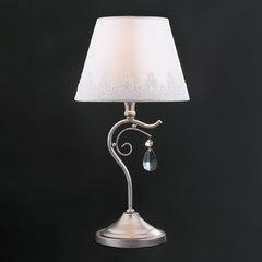Классическая настольная лампа Eurosvet Incanto 01022/1 серебро