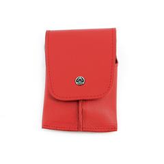 Маникюрный набор GD, 6 предметов, цвет красный, кожаный футляр 1521RLM