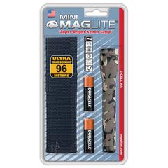 Фонарь MAGLITE Mini, 2AA, камуфляж, 14,6 см, в блистере, с чехлом M2A02HE