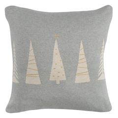 Чехол на подушку вязаный с новогодним рисунком Christmas tree из коллекции New Year Essential, 45х45 см Tkano TK20-CC0004