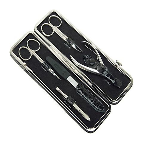 Маникюрный набор GD, 5 предметов, цвет черный, кожаный футляр 1556BLSN