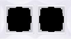 Рамка на 2 поста (белый, basic) WL03-Frame-02 Werkel