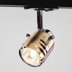 Трековый светильник с поворотным механизмом Eurosvet Leonardo 20076/1 хром/античная бронза