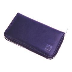 Маникюрный набор Dewal, 7 предметов, цвет фиолетовый, кожаный футляр 510VL