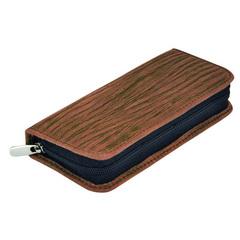 Маникюрный набор Erbe, 5 предметов, цвет коричневый, кожаный футляр 9101ER