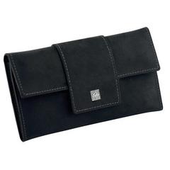 Маникюрный набор Erbe, 5 предметов, цвет черный, кожаный футляр 9361ER