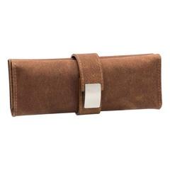 Маникюрный набор Erbe, 5 предметов, цвет коричневый, кожаный футляр 94980ER