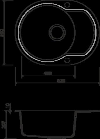 Кухонная мойка из искусственного гранита (Artgranit) OMOIKIRI Manmaru-62-MA (4993350)