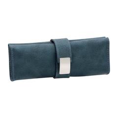 Маникюрный набор Erbe, 5 предметов, цвет синий, кожаный футляр 9498ER
