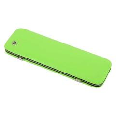 Маникюрный набор GD, 6 предметов, цвет зеленый, кожаный футляр 1556G