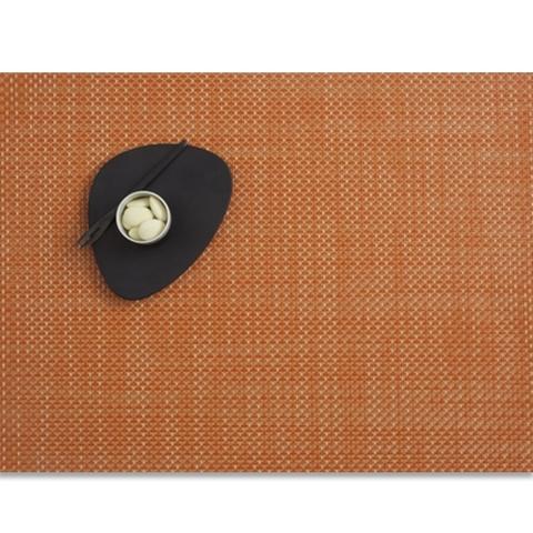 Салфетка подстановочная, жаккардовое плетение, винил, (36х48) Papaya (100110-023) CHILEWICH Basketweave арт. 0025-BASK-PAPA
